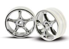 "NEW Traxxas 2473 Front  2.2"" Tracer Chrome Wheels (2) 1/10 Bandit VXL XL5 *SHIPS"