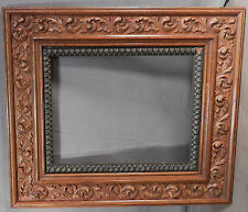 Antique Picture Frame Carved Gilt Gesso Victorian Aesthetic Oak Ash Wood 8x10