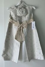 Marie Amelie Holy Communion, Bridesmaid Dress White/ Gold Butterfly + Bag Age 8