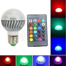 RGB 15W E27 LED 85-265V Lamp Color Changing Light Bulb With Remote Control