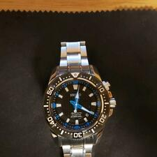 Seiko Sportura Stainless Steel Divers 200m Kinetic Mens Watch Authentic Working