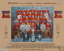 1957-58 MONTREAL CANADIENS STANLEY CUP CHAMPIONS 8X10 TEAM PHOTO BELIVEAU HARVEY