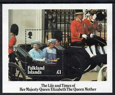 FALKLAND ISLANDS MNH 1985 MS509  LIFE AND TIMES OF THE QUEEN MOTHER