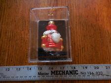 Unique Treasure 3 inch Tall Hand Made Glass Santa Nutcracker Christmas Ornament
