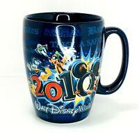Walt Disney World 2010 Coffee Mug Goofy Mickey Donald Disney/Pixar - Blue - D2