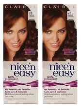 Clairol Nice N Easy Loving Care Hair Color, #78 Medium Golden Brown (2 Pack)