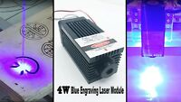 Focusable 450nm 4W Blue Laser Module TTL/Analog Carving/Burning Gift Goggles