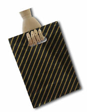 More details for  eposgear 100 small black and gold striped gift shop boutique punch handle bags