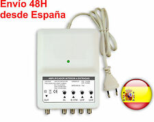 Amplificador TV TDT 4 entradas 26 dB DVB TV 4 input amplifier 26dB