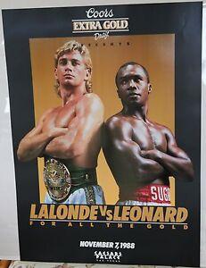 Boxing Poster: Sugar Ray Leonard v Donny Lalonde 1988 Coors Beer