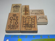 Stampin Up Sweet of You Stamp Set of 6 Window Flower Box Topiary Basket Flowers