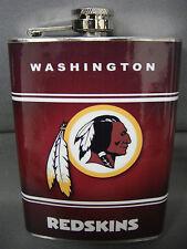 WASHINGTON REDSKINS CLASSIC LOGO RED STAINLESS STEEL 8oz FLASK NFL