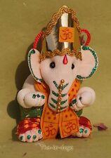 Ganesh Paillettes en Mousse à Suspendre H=10cm 20g Inde Blanc Bollywood