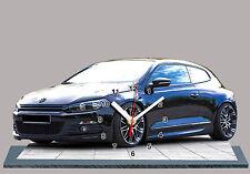 MODEL CARS, VOLKSWAGEN SCIROCCO -05, 11,8x 7,8 inches  aluminium with Clock