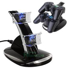 Dual USB Charger Dock Station Stand Holder For PS3 Wireless Bluetooth Controller