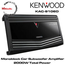 Kenwood KAC-9106D Monoblock Car Subwoofer Amplifier 2000W Total Max Power