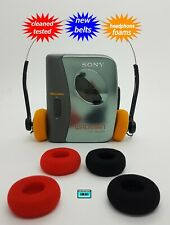 Sony Walkman cassette player  NEW BELTS CLEANED WORKING & TESTED!