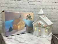 Precious Moments Porcelain Chapel Nightlight In Original Box Free Ship