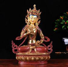 "12"" Antique Tibetan Buddhism hand painting copper gilt Vajrasattva Buddha statue"