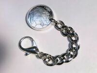 Pocket Watch/Key Chain With .999 silver Buffalo Nickle commemorative Fob