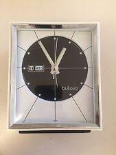 Vintage Rare Mid Century Bulova 51103 Wind Up Alarm Clock Date Day   Japan