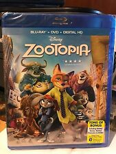 ZOOTOPIA - Blu-Ray + DVD + Digital HD - BRAND NEW IN HAND - FREE SHIP FAST SHIP!