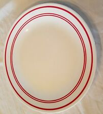 Corelle Livingware Dinnerware Large Plate Ruby Red 6 Replacement Plate stripes