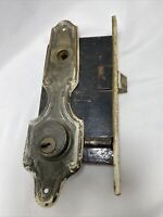 Vintage Sager Mortise with Key Plate Antique Hardware No Key Reclaimed Repurpose