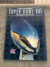 New York football Giants Super Bowl XX1 21 program vs Denver NEW, not read