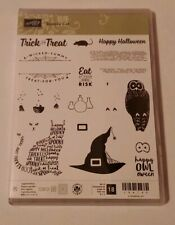 NEW Stampin Up SPOOKY CAT Halloween Witch Hat Bat Owl Potions Trick or Treat