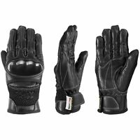 Motero Vented Genuine Leather Motorbike Motorcycle Gloves Knuckle Protection
