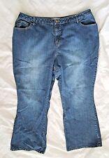 Womens Fashion Bug Jeans Sz 24WP Short Boot Cut Slightly Distressed Stretch PLUS