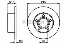 Bremsscheibe (2 Stück) - Bosch 0 986 479 B22
