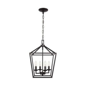 Weyburn 4- Light Bronze Caged Chandelier by Home Decorators Collection