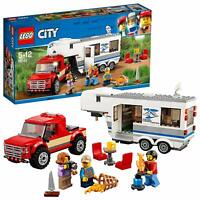 LEGO 60182 City Great Vehicle's Pickup And Vacation Caravan Trailer Kids Toy Set