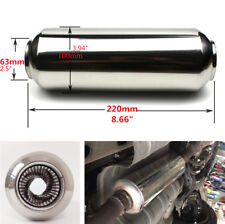 """Car Modified Exhaust Middle Pipe Muffler Stainless Steel 2.5"""" Inlet 2.5"""" Outlet"""