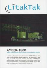 LITAKTAK AMBER-1800 2014 RADAR ON MAN TG MILITARY BROCHURE PROSPEKT FOLDER