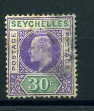 Seychelles 1906 30c dented frame variety used sg 66a
