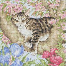 Anchor Cross Stitch Kit - Cat Kits - Sleepy Cat