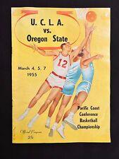 1955 UCLA vs. Oregon State Basketball PCC Championship Program John Wooden Coach