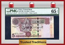 "TT PK 69b 2004 LIBYA 5 DINARS ""CAMELS"" PMG 65 EPQ GEM POP ONE FINEST KNOWN"
