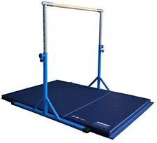 Z-Athletic Zath-Kip-4x6x2-Blue Expandable Kip Bar and 4'x6'x2 Mat Package (Blue)
