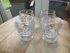 Vintage Malibu Rum Tiki Coconut Plastic Drink Dessert Glasses Bowls Stackable