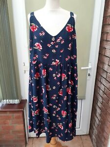 YOURS Ladies sizes 16-32 Pink Floral Print Sleeveless Belted Dress