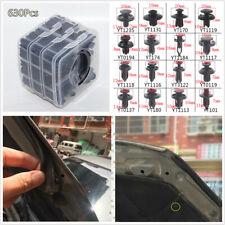 630Pcs Black Plastics Auto Fasteners Set Repair Parts Clip For Car Fender Bumper