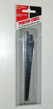"""5 NEW PORTER-CABLE WOOD SAW BLADES! 6 TPI, ROUGH! 6"""" LONG! 12400-5! SWISS MADE!"""
