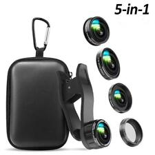 Australia Phone Camera Lens, 5 in 1 Cell Phone Camera Lens 0.5x Wide Angle Lens+