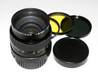 EXC! RARE! MC Carl Zeiss Jena Prakticar lens 1.8/80 mm Praktica B mount SN#1502