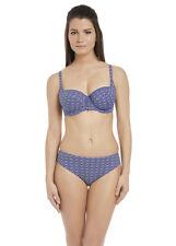NUOVO Fantasie la MANGA Mid Rise Slip Bikini solo Medium Blu Pacifico 12