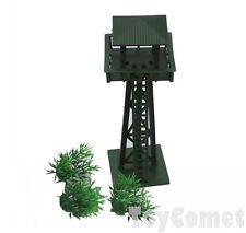 4 pcs Military Watchtower Grass Models Plastic Toy Soldier Army Men Accessories